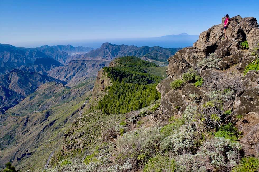 Ausblick auf die Berglandschaft vom Hausberg Montana Artenara - Gran Canaria