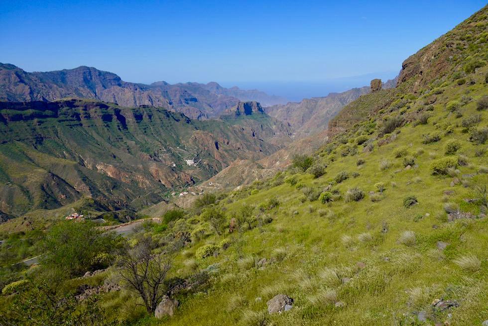 Grandioser Ausblick unterhalb des Roque Bentayga - Gran Canaria