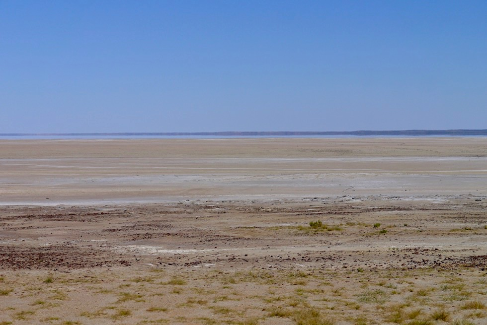 Ausblick Halligan Bay - Lake Eyre North mit Wasser - South Australia