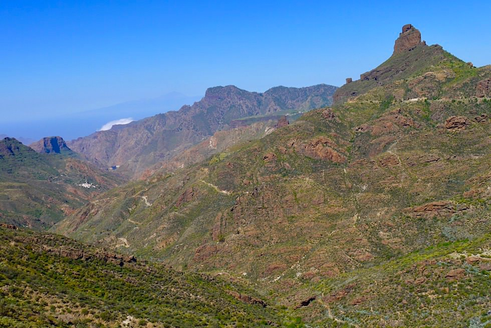 Von überall zu sehen: Roque Bentayga - Blick auf 2. größten Monolithen von Gran Canaria