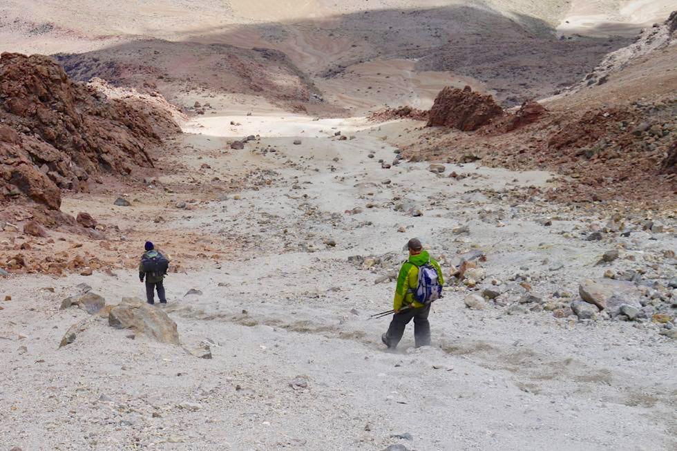 Chachani Besteigung - Abrutschen beim Abstieg - Arequipa - Peru