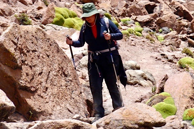 Chachani Besteigung - Abstieg im unteren Bereich - Peru