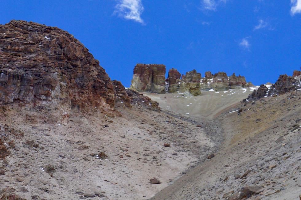 Chachani Besteigung - mühsamer Aufstieg im Schotter - Arequipa - Peru
