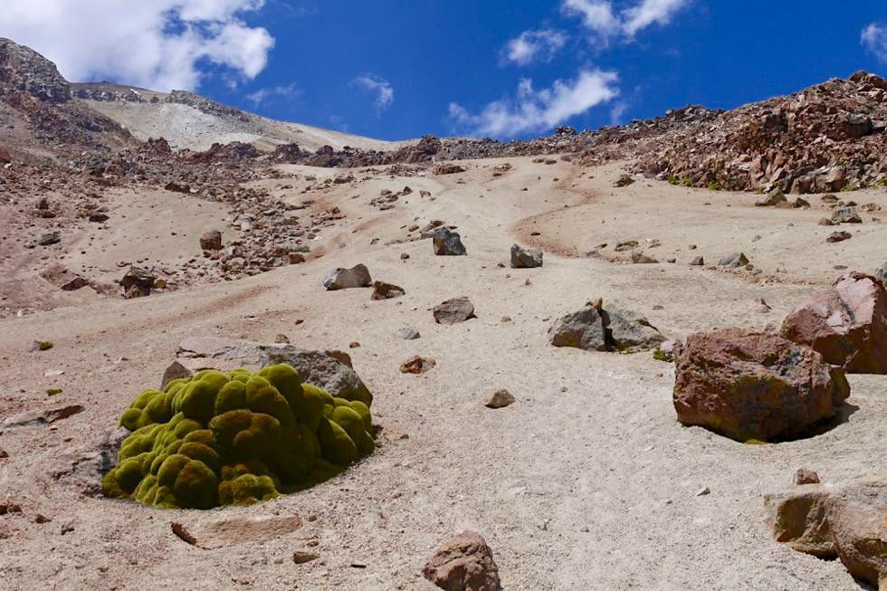 Chachani Besteigung - Abstieg: Blick zurück nach oben - Arequipa - Peru