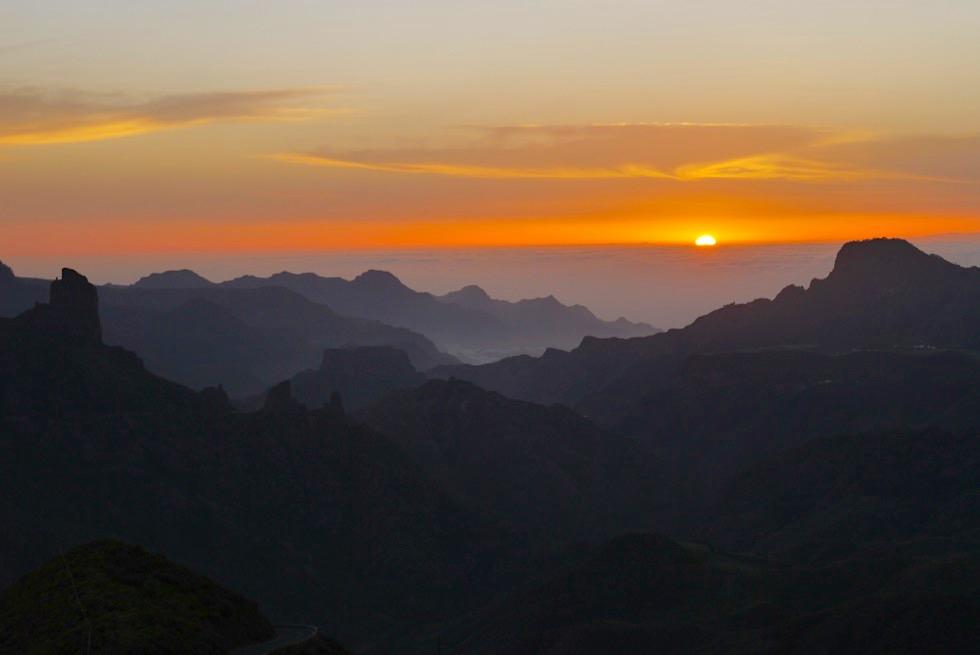 Cruz de Tejeda - der schönste Ort um Sonnenuntergänge zu beobachten auf Gran Canaria