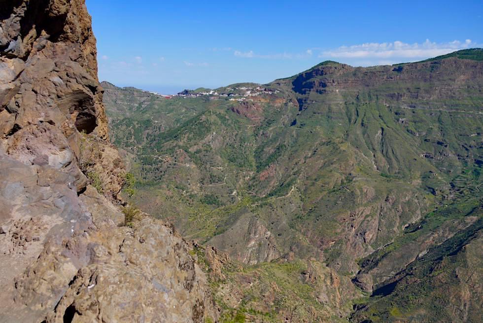 Gipfel Roque Bentayga - Blick auf Artenara & Caldera de Tejeda - Gran Canaria