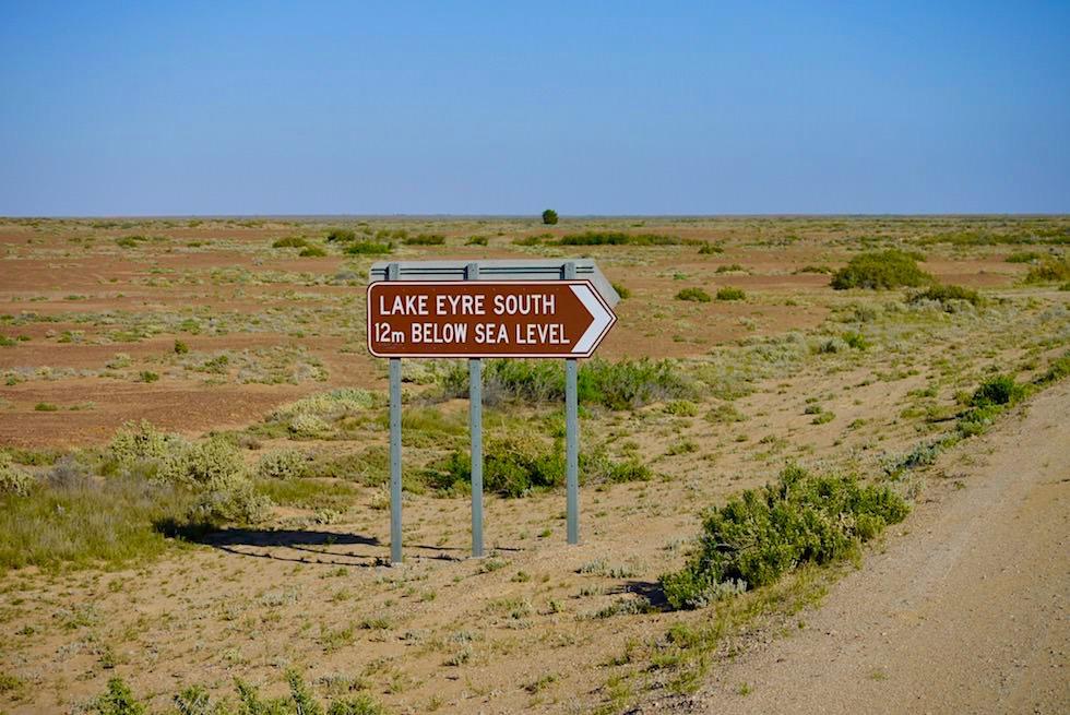 Lake Eyre - tiefster Punkt Australiens 15 m unter Meeresspiegel - South Australia