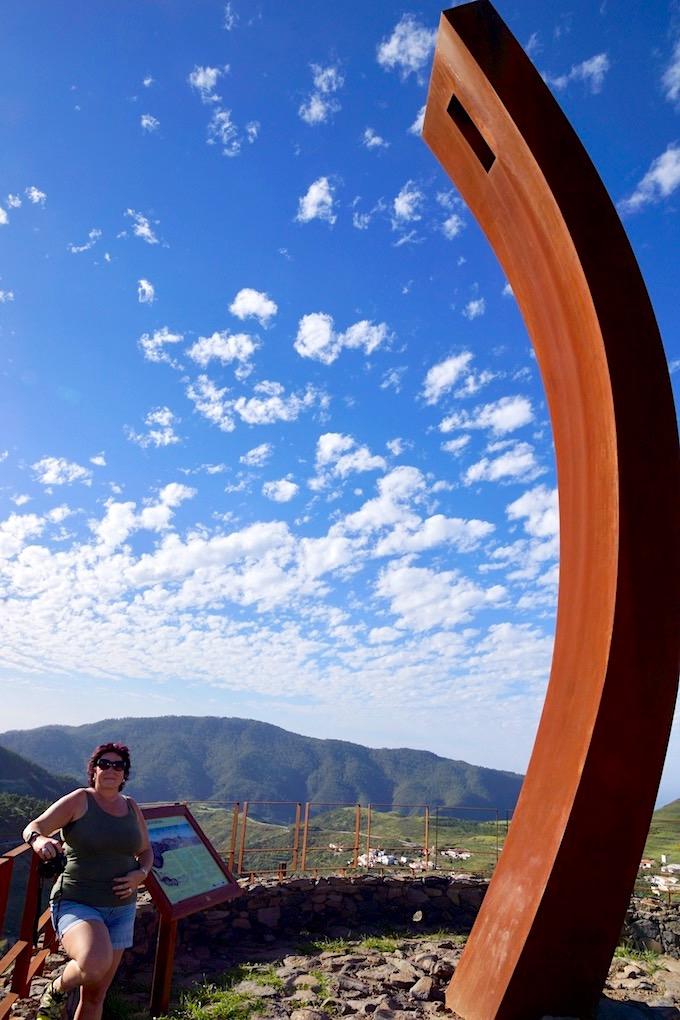 Imposante Skulptur - Mirador de los Poetas - Artenara - Gran Canaria