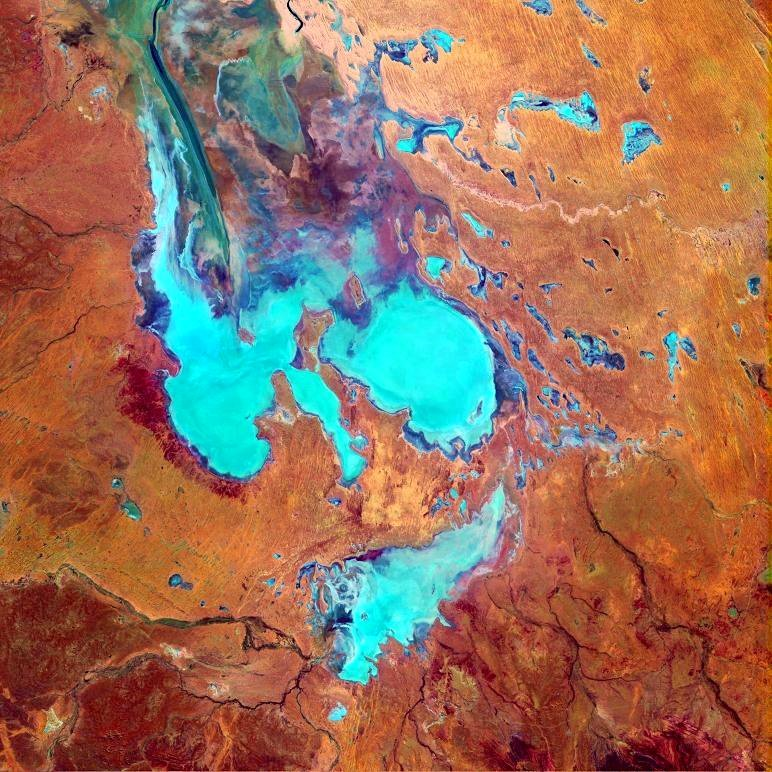 NASA Lake Eyre - Das Geistergesicht - Jul 1999 - South Australia