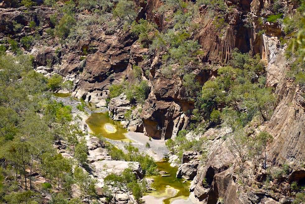 Porcupine Gorge & Creek vom Lookout gesehen - Outback Queensland