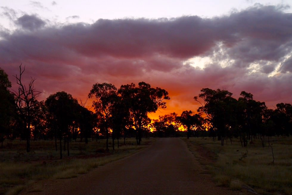 Porcupine Gorge National Park - Grandioser Sonnenuntergang - Queensland