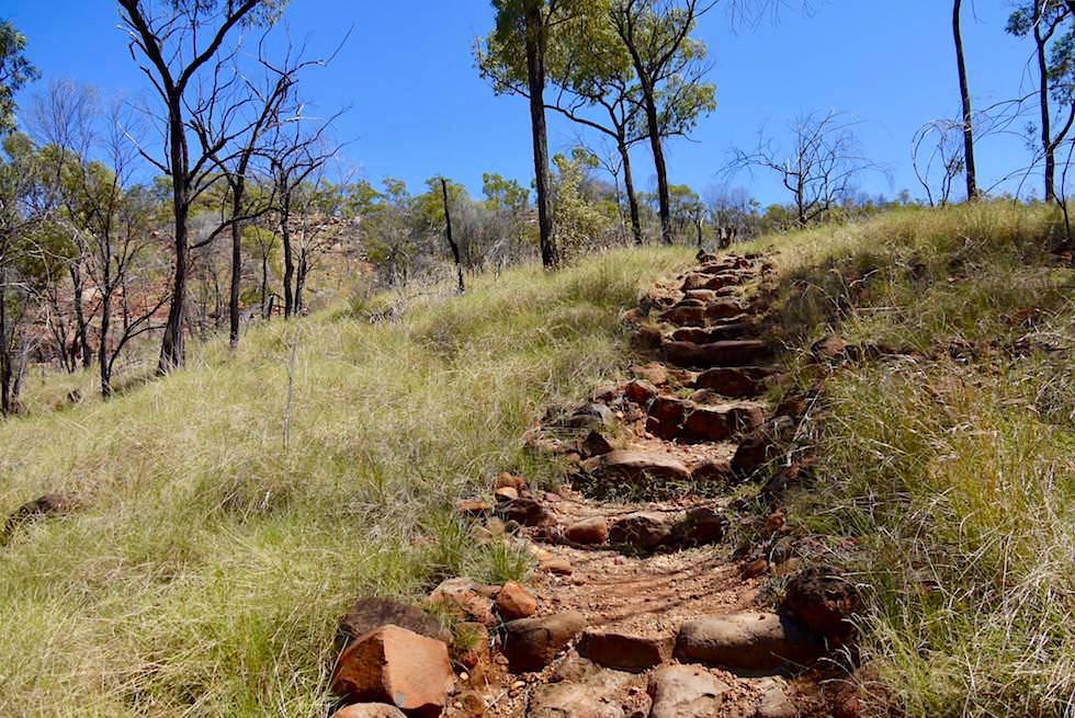 Pyramid Walk - Knapp 1000 Stufen führen in die Porcupine Gorge - Queensland