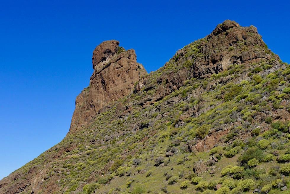 Roque Bentayga - Anblick vom Parkplatz: aufsteigendes U-Boot - Gran Canaria