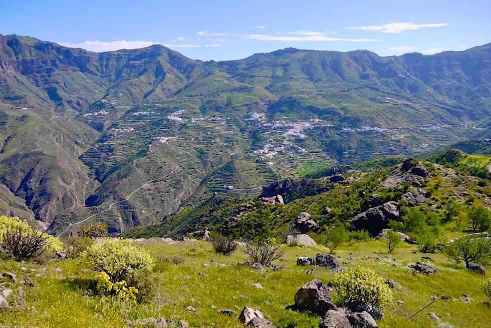 Roque Bentayga - Aufstieg mit Blick auf Tejeda - Gran Canaria