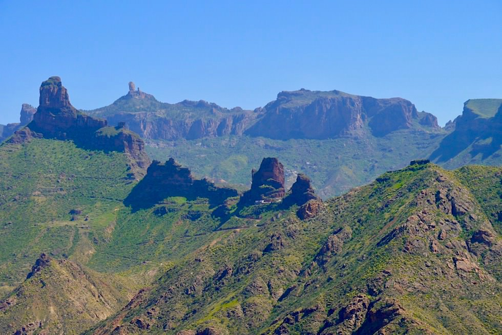 Roque Bentayga & Cuevas del Rey - Faszinierende Monolithen, Höhlen & Felsformationen - Ausblick von der Höhlenwanderung bei Acusa Secca - Gran Canaria