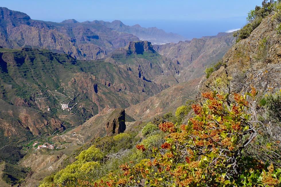 Roque Bentayga - Blick in die Schluchten auf der Südseite - Gran Canaria