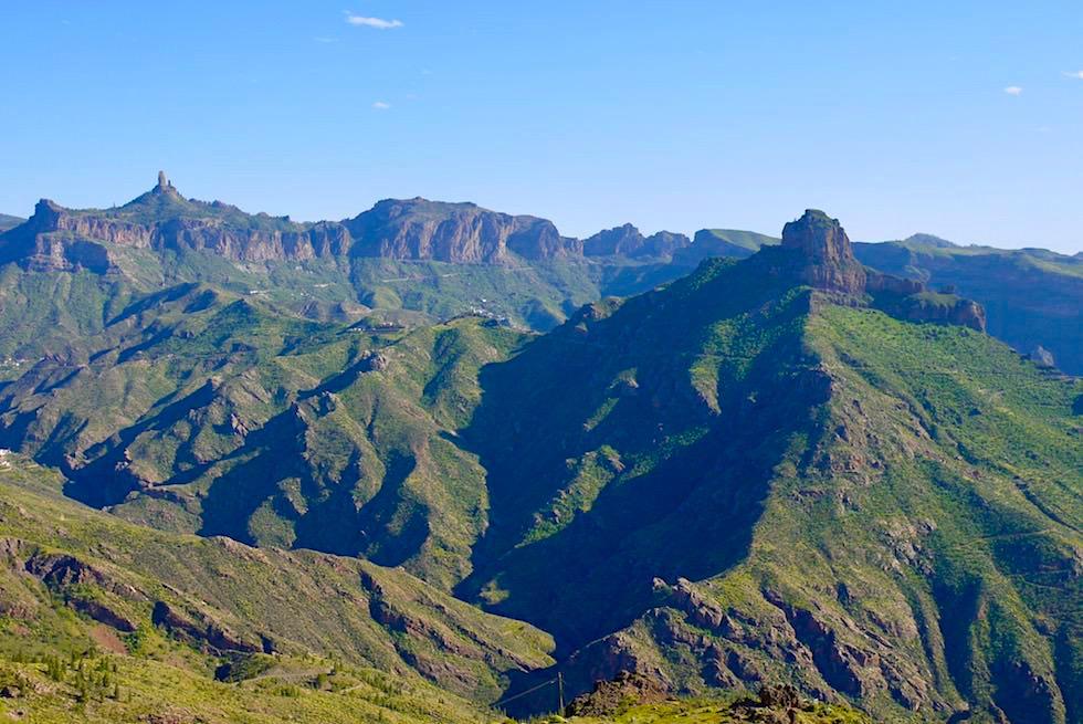 Roque Bentayga & Berglandschaft von Artenara aus gesehen - Gran Canaria