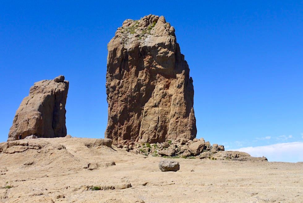 Am Ziel der Roque Nublo Wanderung: Roque Nublo & Roque Rana - Gran Canaria