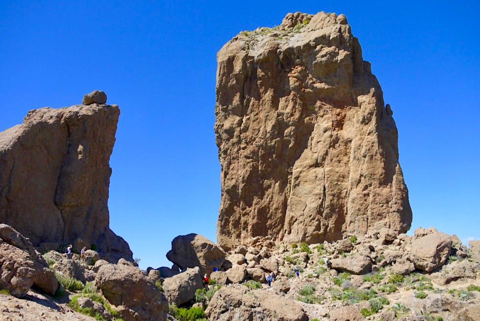 Roque Nublo Wanderung - Am Ziel angekommen: Wolkenfels & Frosch - Gran Canaria