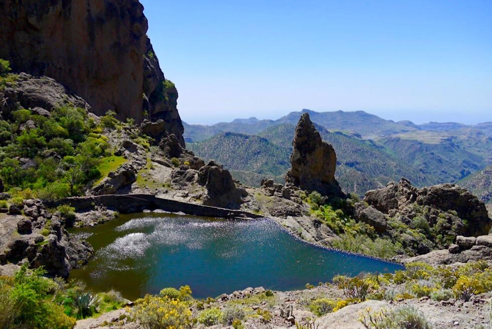 Roque Nublo Wanderung - Überwältigender Panoramablick & kleiner Stausee - Gran Canaria
