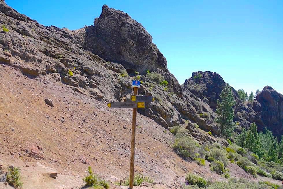 Roque Nublo Wanderung - Wegkreuzung - Gran Canaria