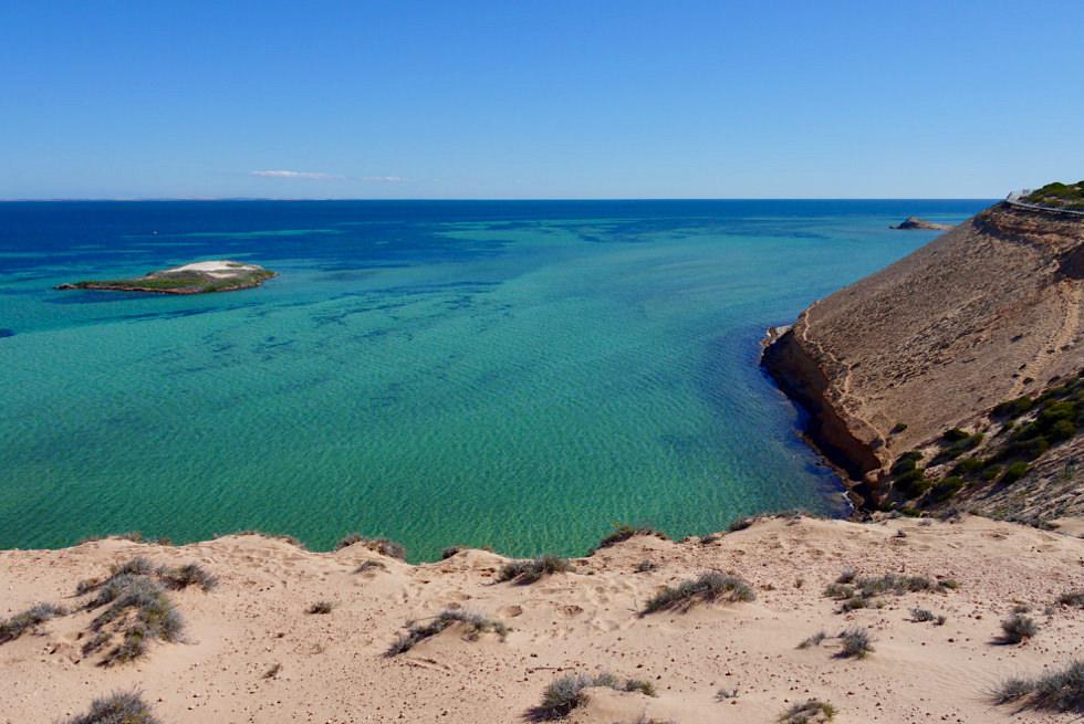 Shark Bay - Eagle Bluff: Blick auf Bucht - Western Australia