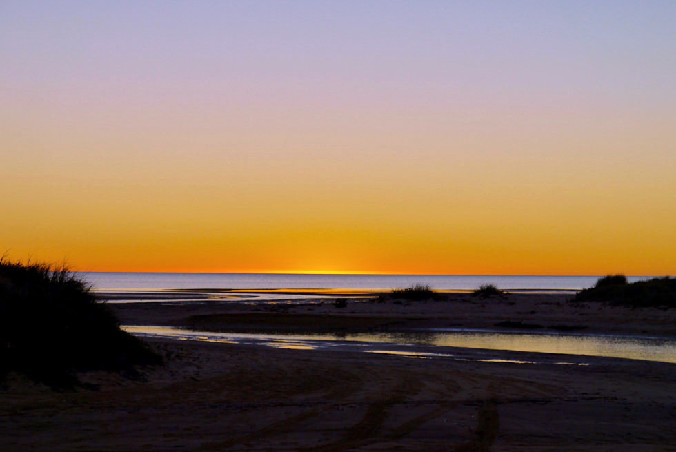 Shark Bay - Eagle Bluff Camground bei Sonnenuntergang - Western Australia