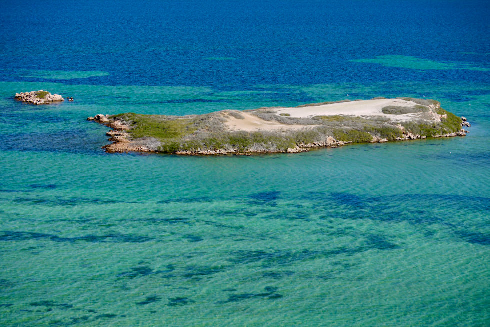 Shark Bay - Eagle Island vom Eagle Bluff aus gesehen - Western Australia