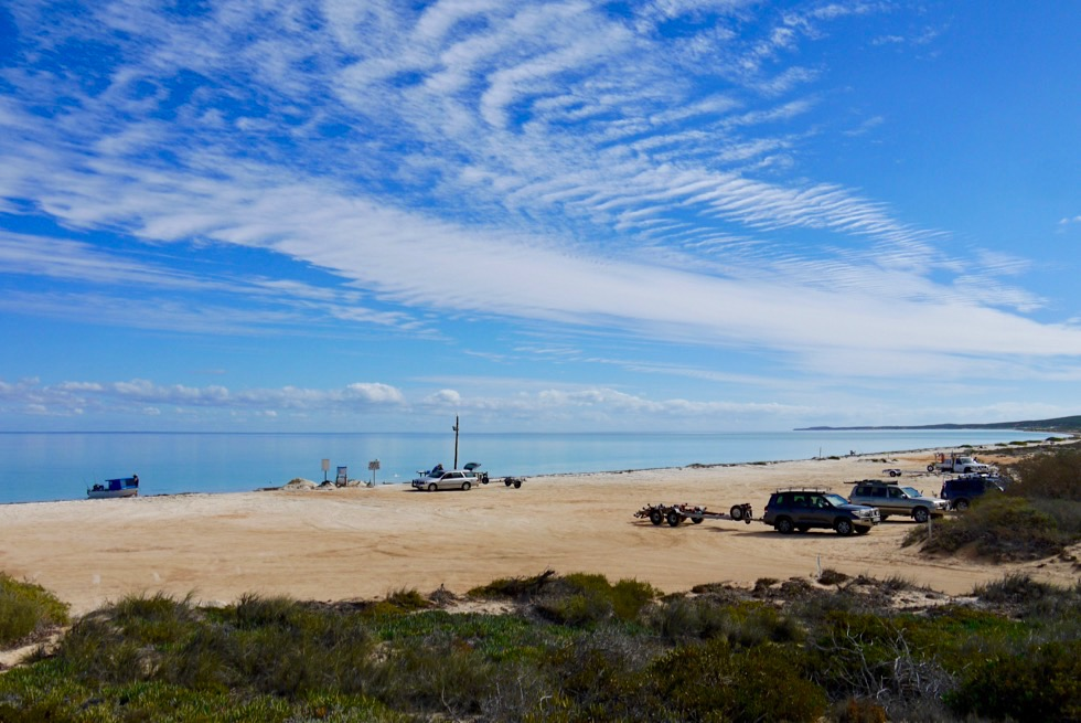 Shark Bay - Nanga Bay beliebt bei Anglern - Western Australia