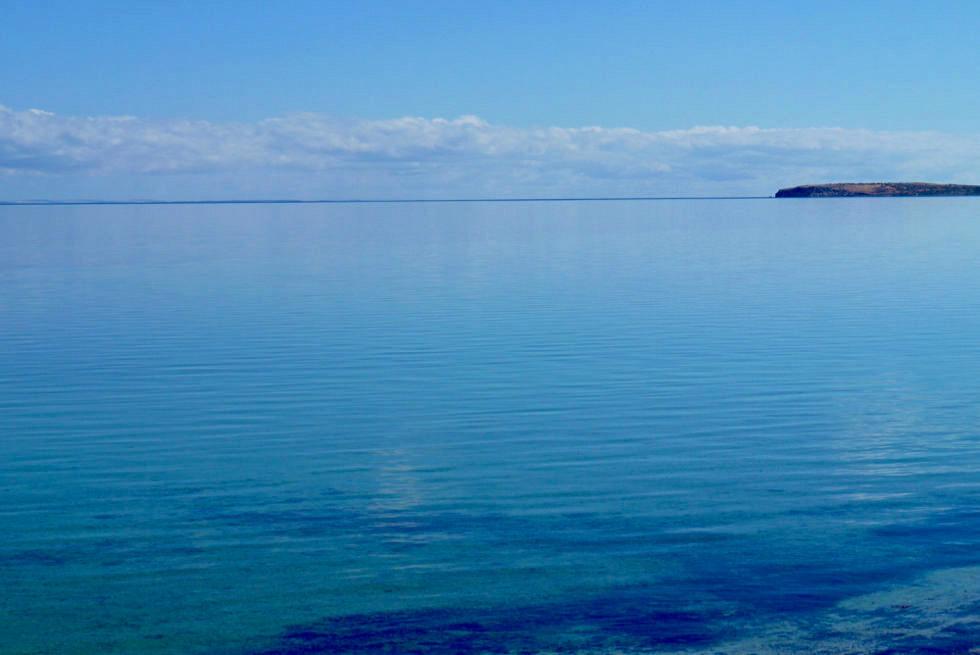 Shark Bay Highlights - Whalebone Bay Ausblick: wo der Ozean in den Himmel fließt - Western Australia
