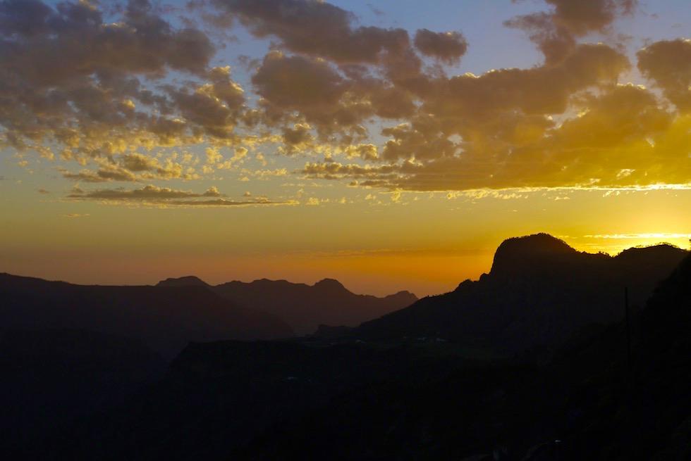 Ein Tag geht zu Ende: Sonnenuntergang - Artenara - Gran Canaria