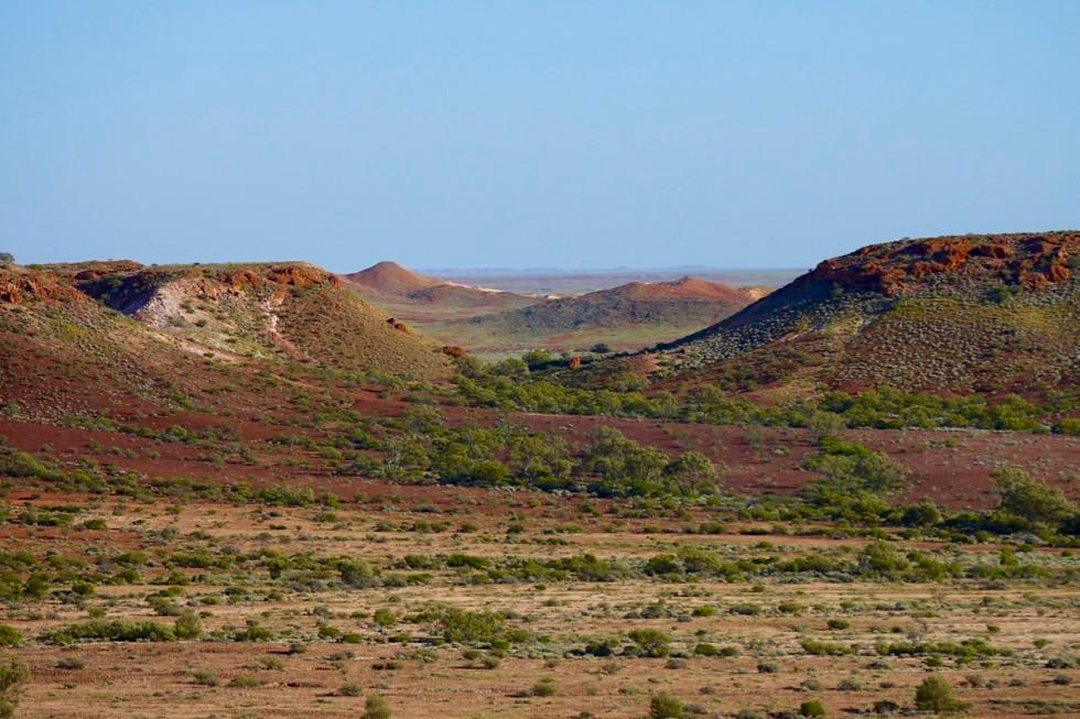 """The Breakaways - """"Abgebrochen"""", die Ausläufer der Stuart Range - South Australia"""