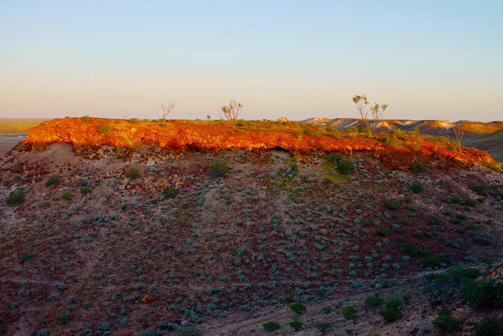The Breakaways - feuriger Sonnenuntergang - Coober Pedy - South Australia