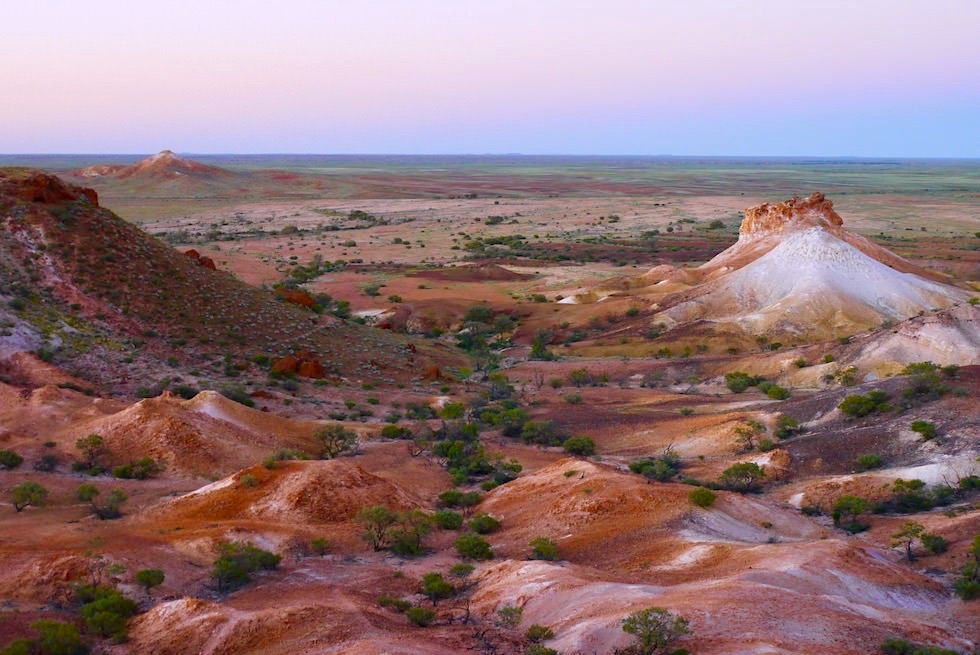 Überwältigende Farben: The Breakaways - Impressionen nach dem Sonnenuntergang - South Australia