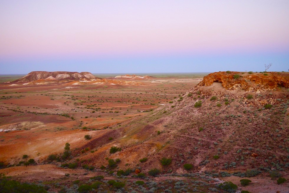 Ausblick in The Breakaways nach Sonnenuntergang - South Australia