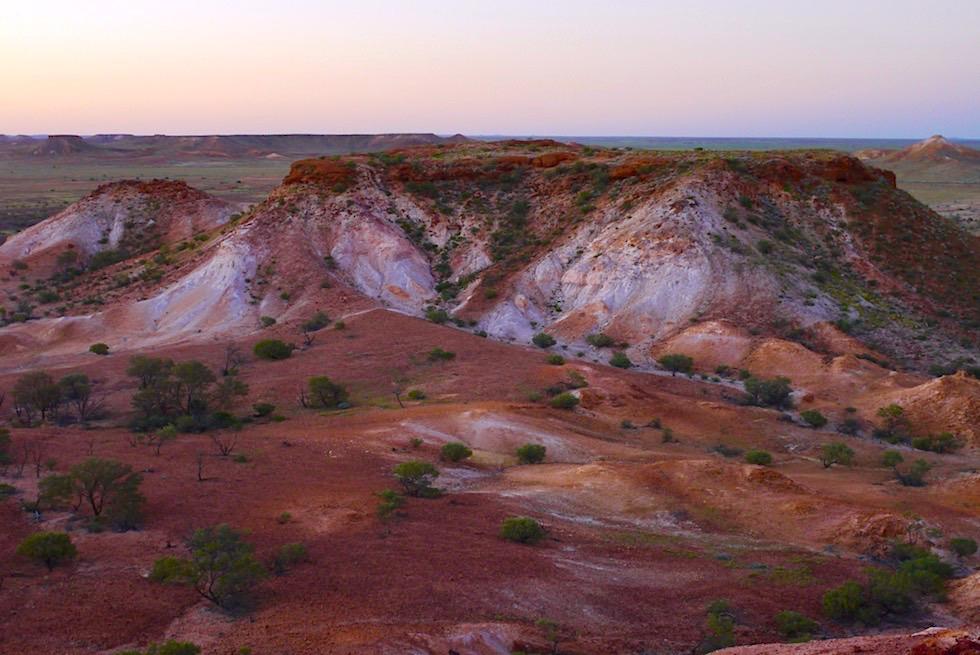 The Breakaways nach Sonnenuntergang - Vor die Nacht einbricht - South Australia
