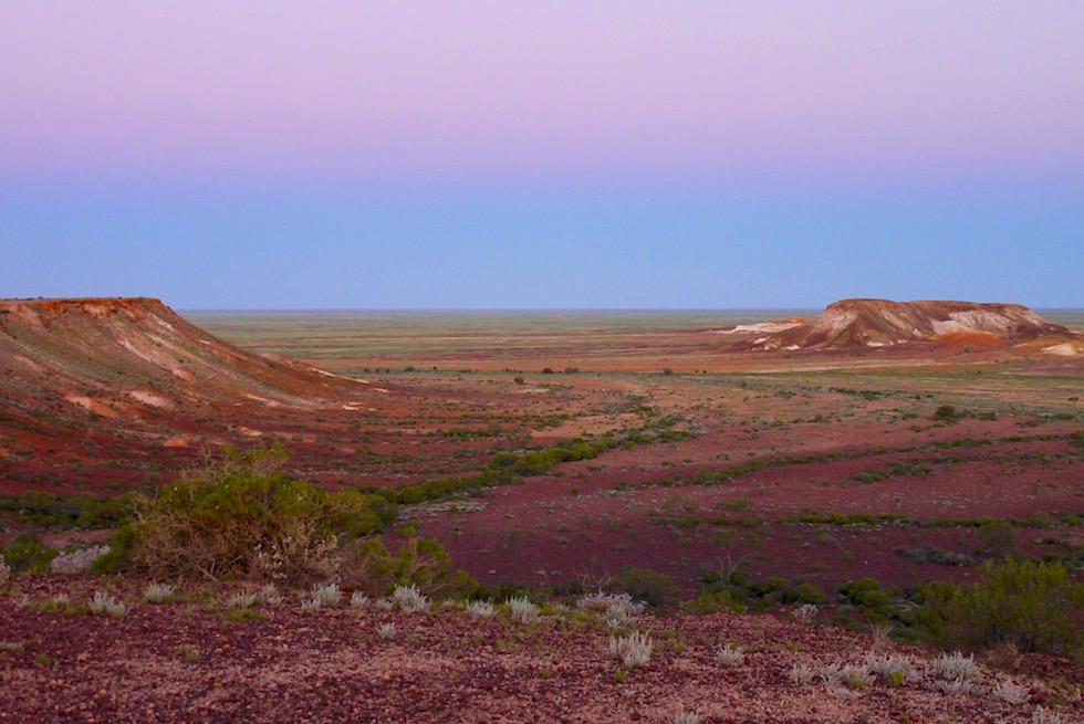 Geheimtipp: The Breakaways - nach Sonnenuntergang vor Eintritt der Nacht - Coober Pedy - South Australia