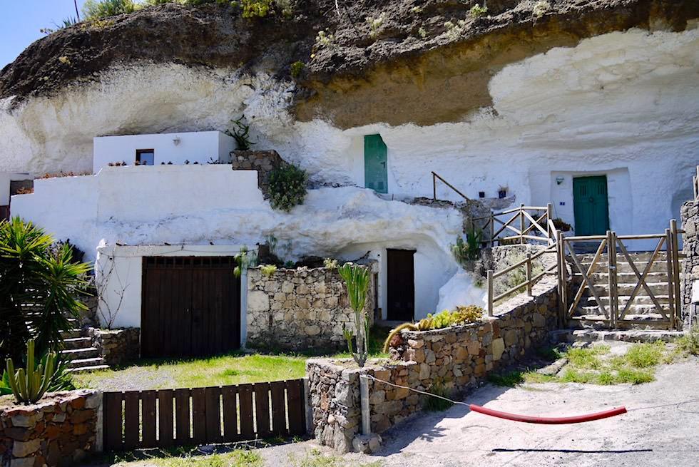 Acusa Seca - Permanent bewohnte Höhlenhäuser bei Artenara - Gran Canaria