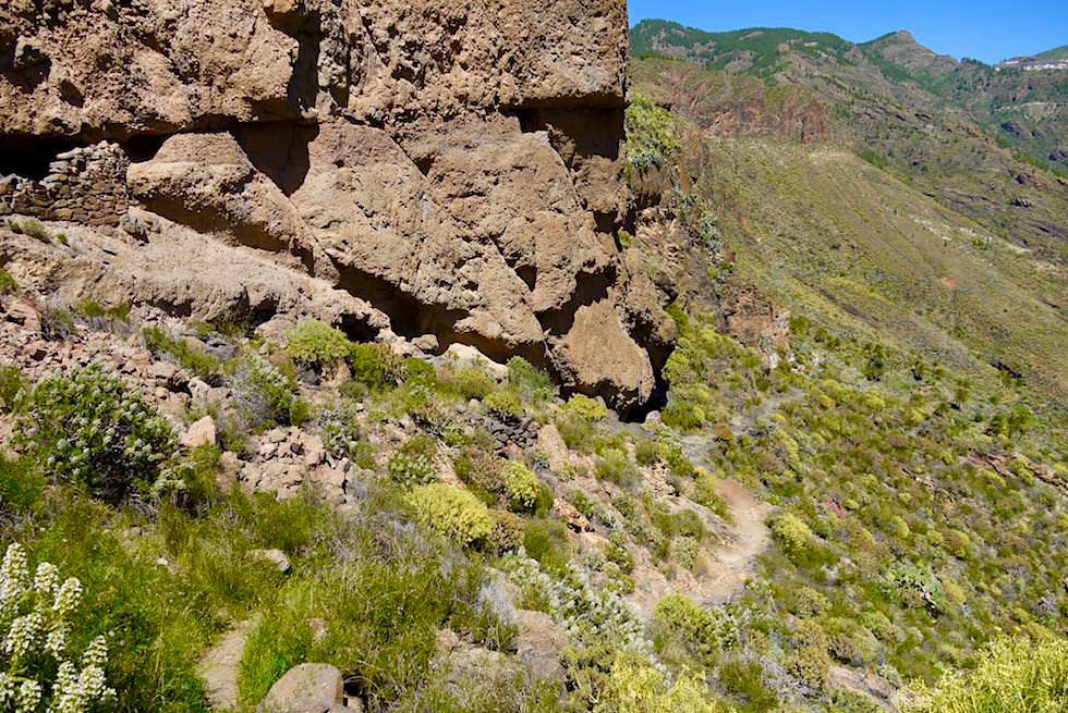 Acusa Seca - Rundwanderung um Felsflanken & Höhlensiedlung der Ureinwohner - Artenara - Gran Canaria
