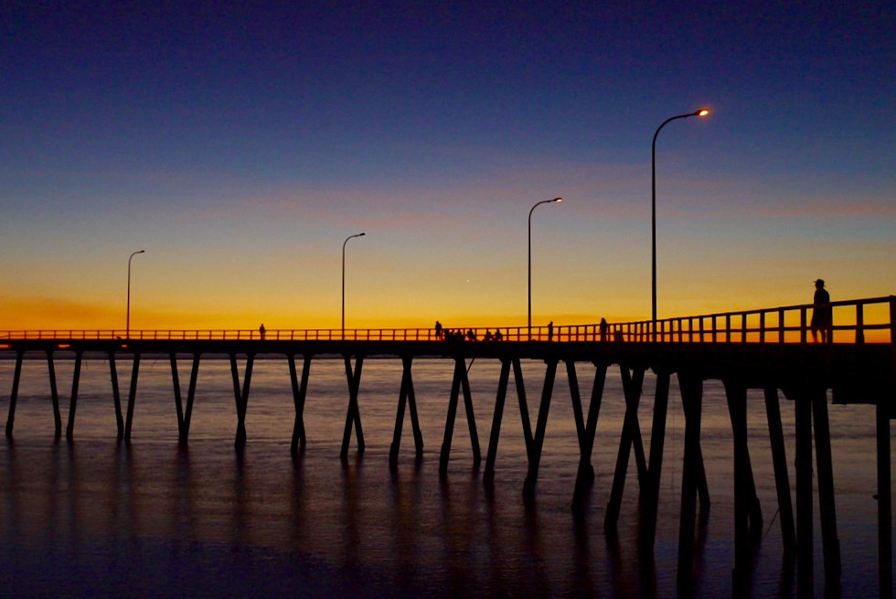 Feuriger Sonnenuntergang am Derby Jetty - Kimberley - Western Australia