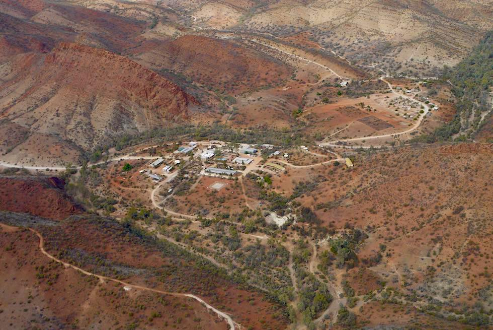 Flinders Ranges - Arkaroola Resort aus der Vogelperspektive - South Australia