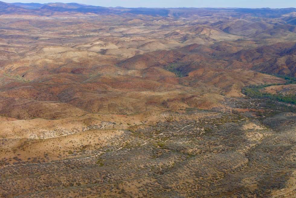 Flinders Ranges Scenic Flight - Rolling Hills: Arkaroola Wilderness - Outback South Australia