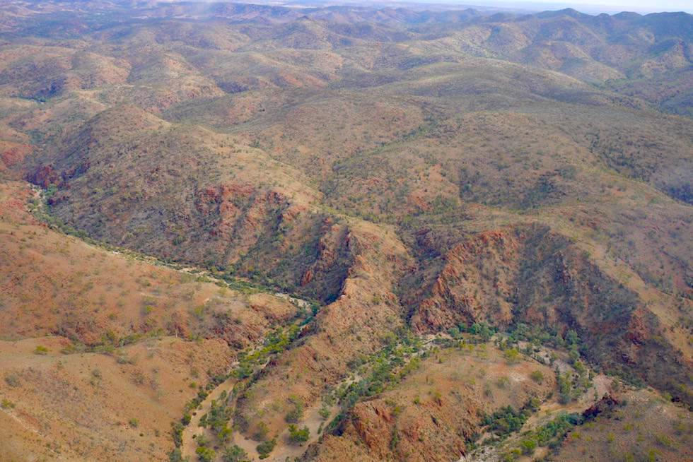 Flinders Ranges Scenic Flight - Tiefe Schluchten & trockene Creeks - Arkaroola Wilderness - South Australia