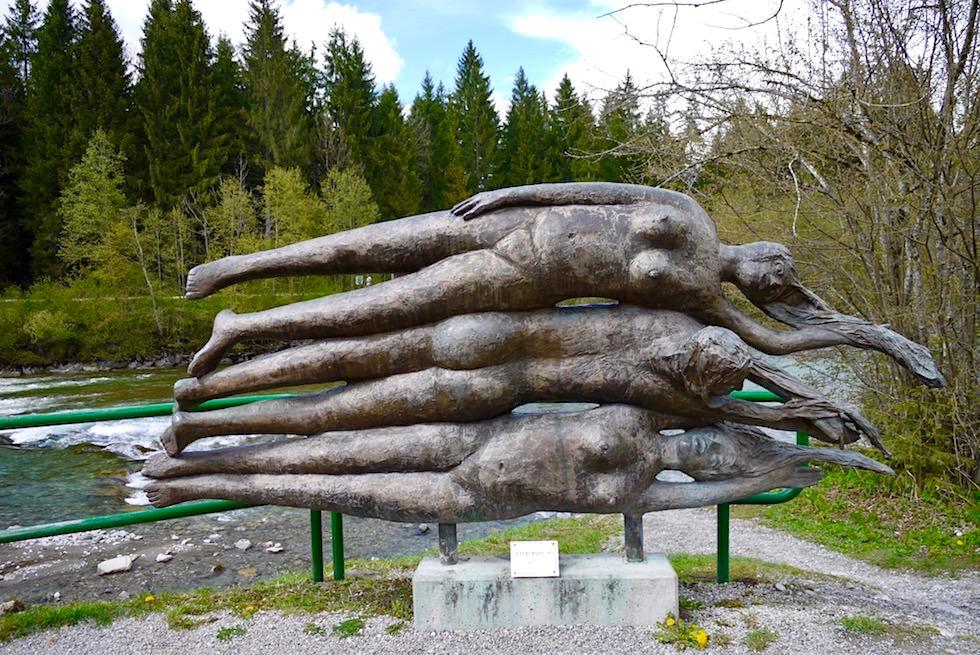 Iller Radweg - Skulptur & Iller Ursprung - Oberstdorf - Bayern