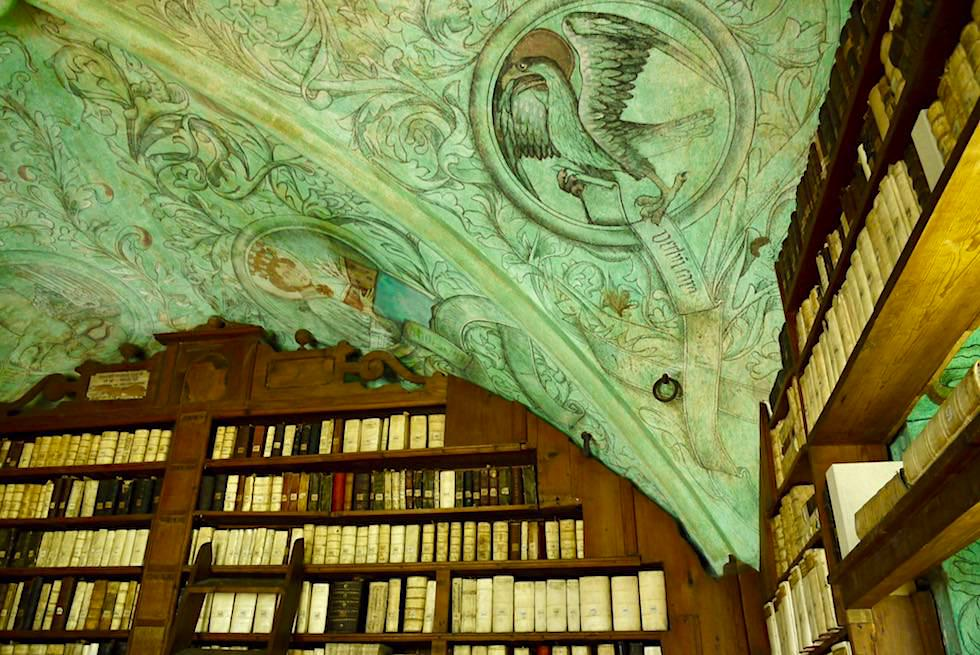 Isny im Allgäu - Wunderschön bemalte Decke in der Predigerbibliothek - Baden-Württemberg
