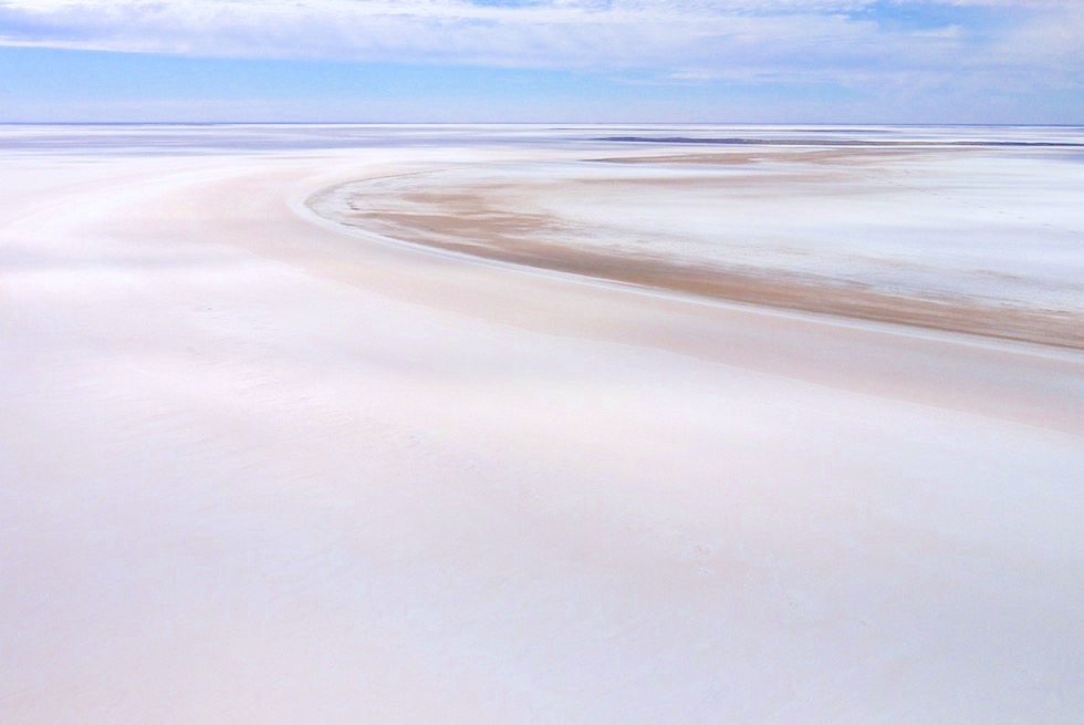 Lake Frome - Schneeweißer Salzsee - Flinders Ranges Scenic Flight - South Australia