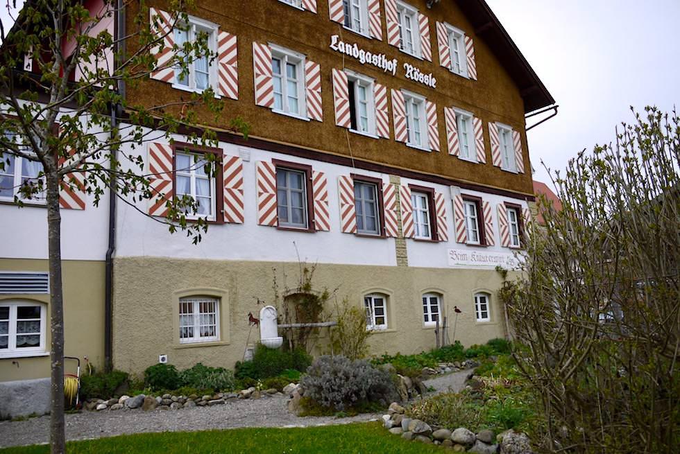 Auf der Radrunde Allgäu - Absolut empfehlenswert: Einkehr Landgasthof Rössle - Beim Kräuterwirt in Stiefenhofen - Bayern