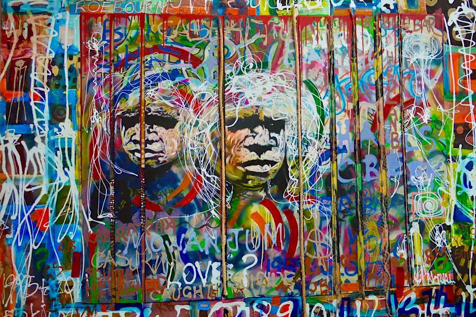 Marc Norval sein eindrucksvollstes Werk - Tod junger Aboriginals - Norval Gallery in Derby - Kimberley - Western Australia
