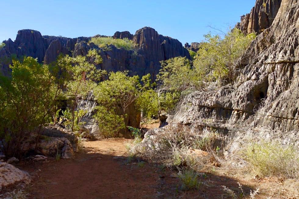 Mimbi Caves Aboriginal Tour - Eingang zur Schlucht - Kimberley - Western Australia