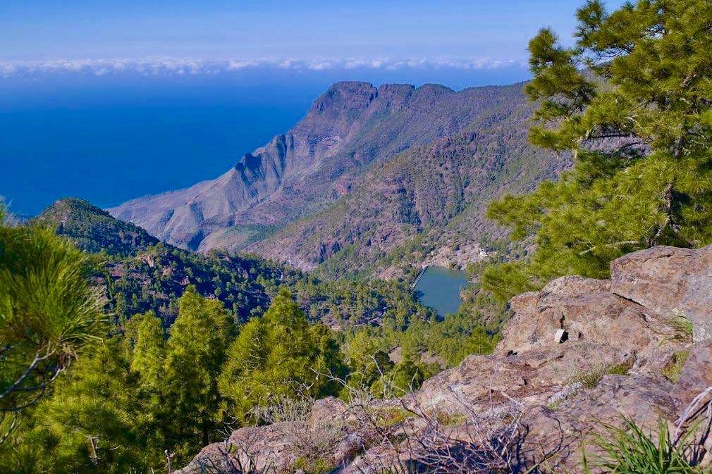 Montana Altavista - Grandioser Fernblick vom Gipfel - Region Artenara - Gran Canaria